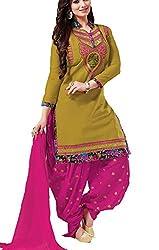 Meghali Women's Cotton Unstitched Salwar Suit (GS3_Multi-Coloured_Freesize)
