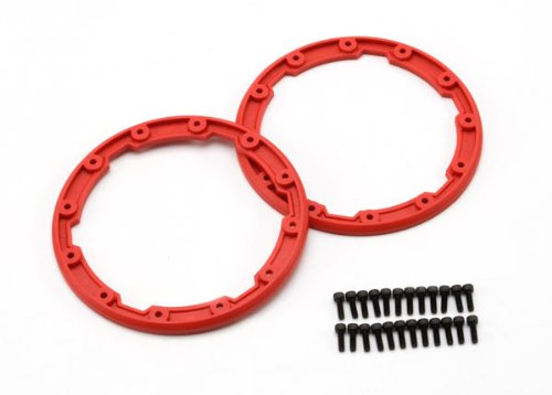 Traxxas 5667 Sidewall Protector, Bead lock Style, Red, Summit, 2-Piece