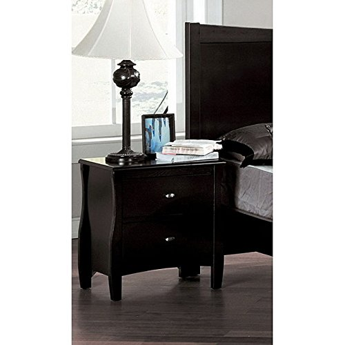 Beau Espresso Finish 2-Drawer Night Stand