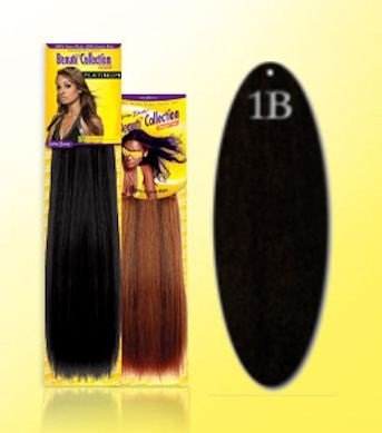 Beauti-Collection-Human-Hair-Extensions-GYaki-Weave-Bulk-14-1B-Black-Size-14
