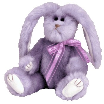 Ty Attic Treasures - Azalea the Lilac Purple Bunny Rabbit - 1