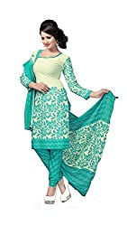 Jashvi Creation Women's Printed Unstitched Regular Wear Salwar Suit Dress Material(JC_DM_Blue)