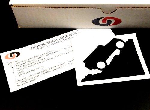 Wrangler Jk Jku Jeep Windshield Little Corner Jeep Decal 2007-2014 Sticker Kit Gloss Black By Underground Designs