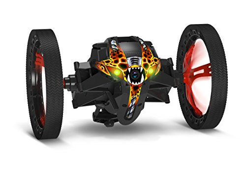 Parrot MiniDrone Jumping Sumo Black - Connected toy - Wide angle FPV camera - FreeFlight 3 App iOS, Android & Windows Phone - WiFi