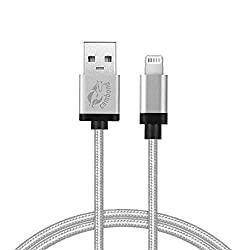 iPhone 6 Charger,Cambond® 3.3ft Braided 8 Pin Data Sync Cord for iPhone 6 6Plus 5s 5c 5, iPad Air Air2 mini mini2 mini3, iPad 4th gen, iPod touch 5th gen,iPod nano 7th gen ( Solid Silver )