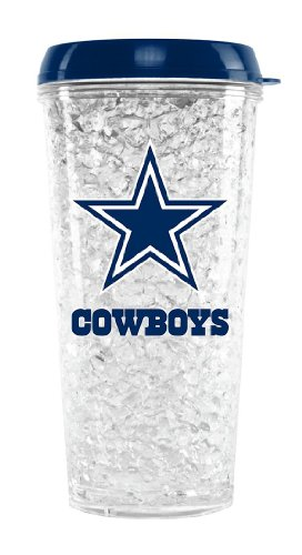 NFL Crystal Tumbler with Straw - Dallas Cowboys at Amazon.com