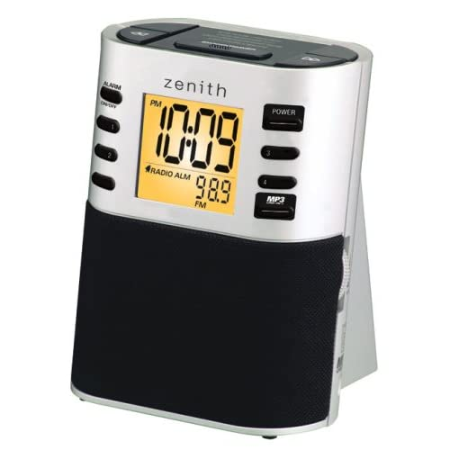 zenith hotel clock radio w mp3 in z1307 alarm clocks. Black Bedroom Furniture Sets. Home Design Ideas