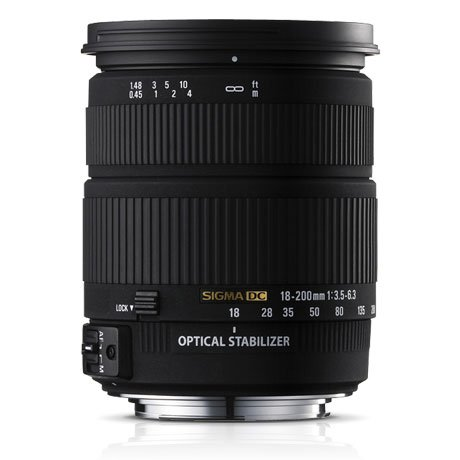 Sigma 18-200mm F3.5-6.3 II DC OS HSM Lens for