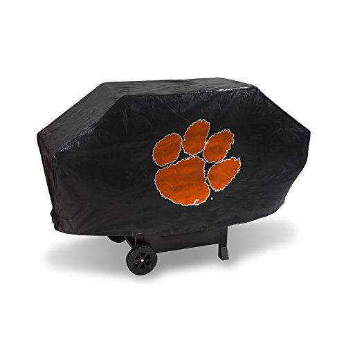 NCAA Clemson Tigers Deluxe Grill Cover, Black, 68 x 21 x 35