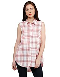 Oxolloxo Women pink cotton shirt