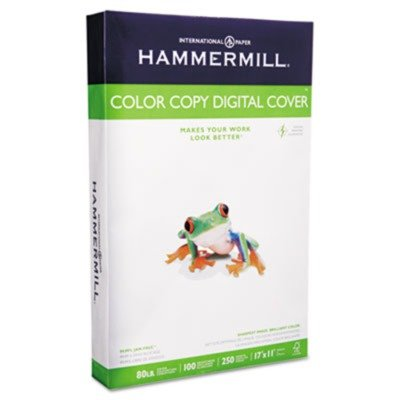 Hammermill Color Copy Digital Cover Stock, 80 lbs., 11 x 17, White, 250 Sheets