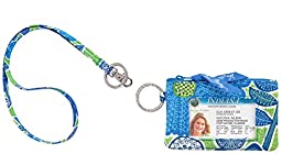 Vera Bradley Zip Id Case and Lanyard in Doodle Daisy