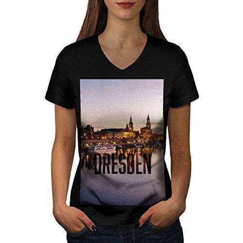 big-old-german-city-dresden-art-women-new-black-s-2xl-v-neck-t-shirt-wellcoda