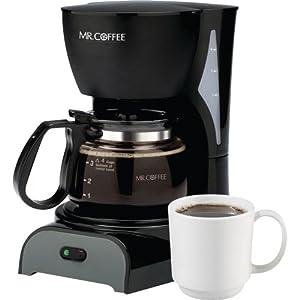 Mr. Coffee DR5 4-Cup Coffeemaker, Black