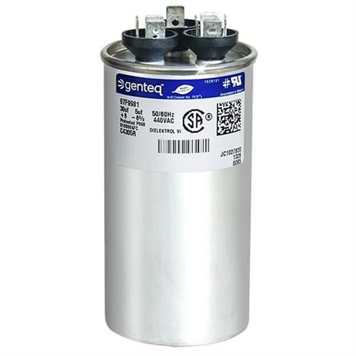 Trane CPT00659 / CPT-0659 - 30 + 5 uF MFD x 440 VAC Genteq Replacement Dual Capacitor Round # C4305R / 97F9981 (Cpt Conditioner compare prices)