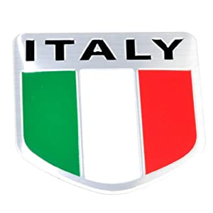 Amazon.com: Cutequeen Italian Flag Emblem Body Sticker Stickers(Pack
