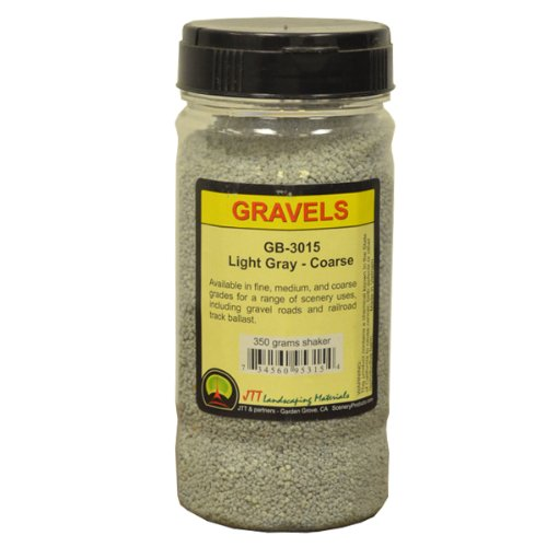 JTT Scenery Products Ballast and Gravel, Light Gray, Coarse