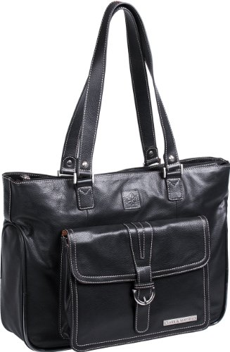 Clark & Mayfield Stafford Pro Leather Laptop Tote 15.6