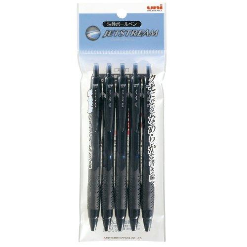 三菱鉛筆 ボールペン ユニ ジェットストリーム SXN150075P.24 5本パック 黒