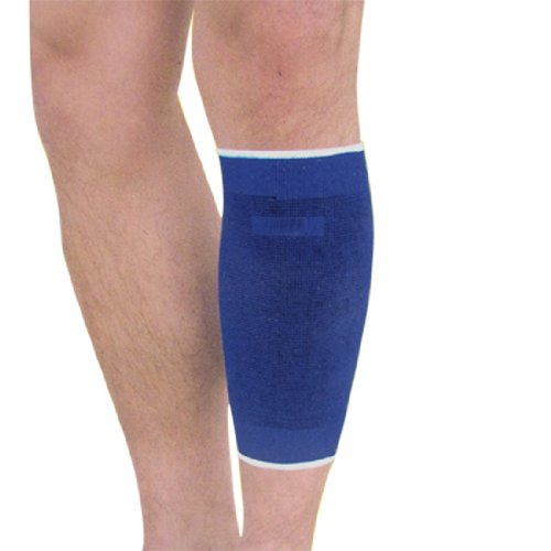 Blue Black Bar Stripe Stretchy Calf Crus Support 2 Pcs
