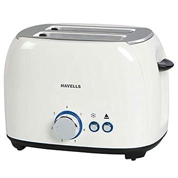 Havells Crust 800-Watt Pop-up Toaster (White)