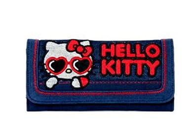 Blue Denim Hello Kitty with Heart Shades Checkbook Wallet