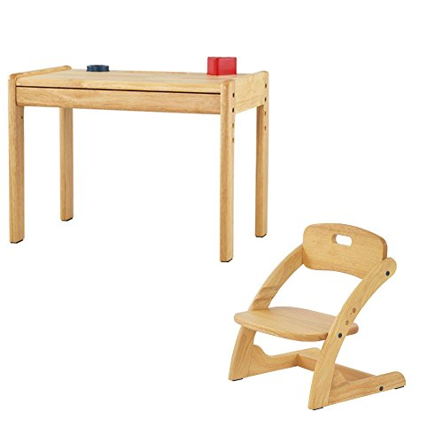【完成品】 【組立不要】 デスク&チェア 2点セット キッズ家具 子供用 木製 お絵かき 学習机 子供部屋に!