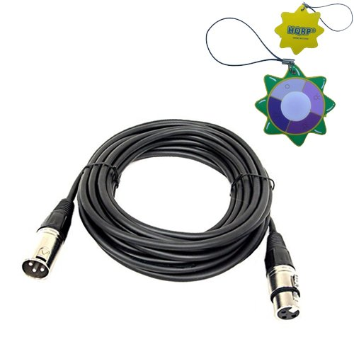 Hqrp 3-Pin Xlr M To Xlr F Cable For Shure Sm27, Sm57 Microphones + Hqrp Uv Meter