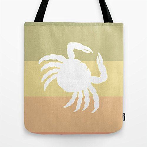 Society6 - Out At Sea Series - Sideways And Crabby Tote Bag by Bright Enough