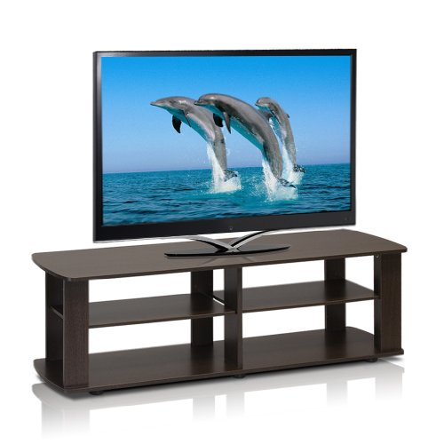 Furinno 11191DBR The Entertainment Center Television Stand, Dark Brown