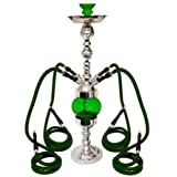 "32"" 4 Hose Rotating Queen Rotator Hookah Red ~ Texas Hookah"