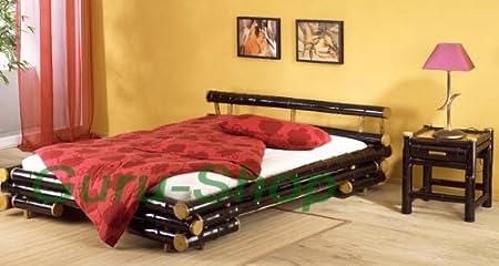 Bambusbett `Khan` in vielen Größen / Möbel und Kolonialstilmöbel/ Variante: Größe: 160*200 cm