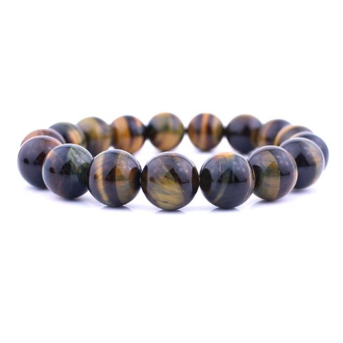 O-stone Natural Tiger's Eye Bracelet  Blue-yellow