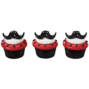 Mustache Stache Bash Cupcake Rings