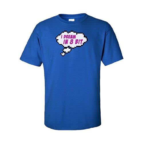 Iamtee I Dream In 8 Bit T-Shirt-Blue-M