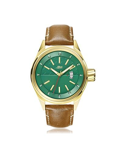JBW Men's J6287G ROOK Brown/Green Stainless Steel Watch