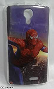 Soft Fancy Back Cover For Intex Cloud Glory 4G - Spider man Printed Case