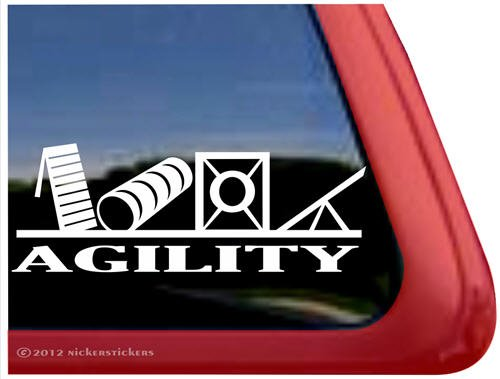 Agility ~ Dog Agility Vinyl Window Auto Decal Sticker front-25652