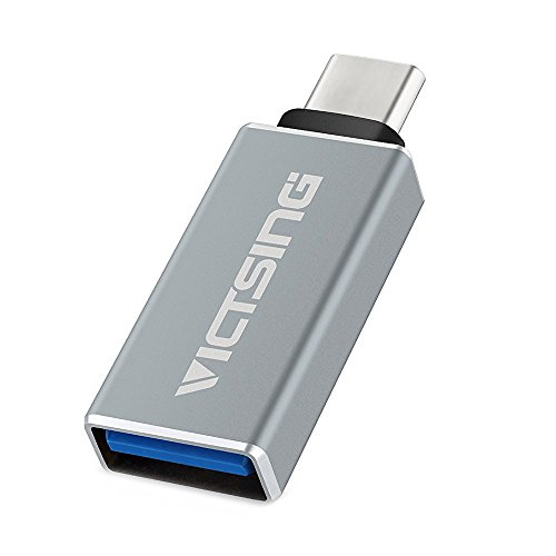 VicTsing Gray USB 3.1 Type C Male to Standard Type A USB 3.0 Female Adapter Converter with OTG for Apple New Macbook 12 Inch, Chromebook Pixel and MSI mainboard Z79