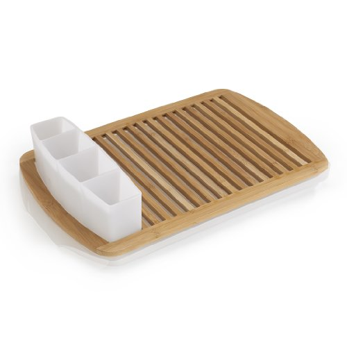Umbra Slat Bamboo Dish Drying Rack with Tray