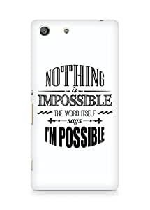 AMEZ Nothing is Impossible Back Cover For Sony Xperia M5