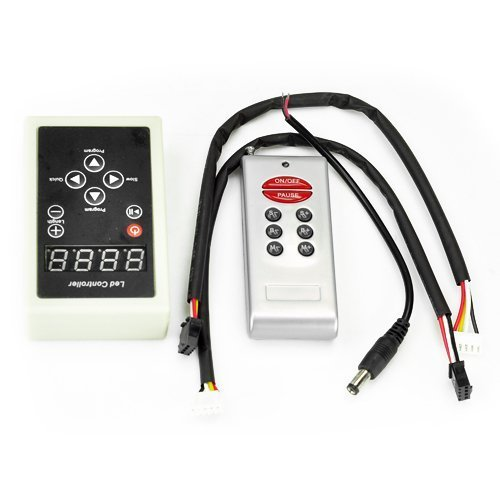 Hkbayi 133 Modes Wireless Digital 6803 Ic Rf Controller For Dream Color Chasing 5050 Rgb Led Strip