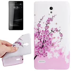 Cherry Blossom Pattern TPU Protective Case for Huawei Ascend G700