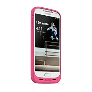 Mophie Juice Pack for Samsung Galaxy S4 - Retail Packaging - Pink