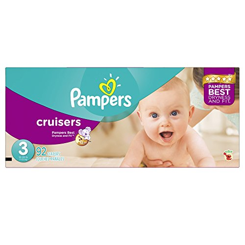 Pampers Cruisers Diapers, Super Pack, Size 3, 92 Count - 1