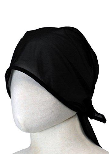 (センツキ) SENTSUKI バンダナキャップ メッシュ素材 カフェ 飲食 帽子 立体型 男女兼用 日本製 【ユニフォーム】 ブラック フリーサイズ 1099K