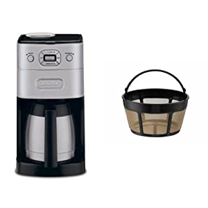 Cuisinart Coffee Maker Filter Instructions : Amazon.com: Cuisinart DGB-650BC Grind-and-Brew Thermal 10-Cup Automatic Coffeemaker and Filter ...