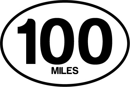 100 Miles Oval Decal (Oval Decal compare prices)