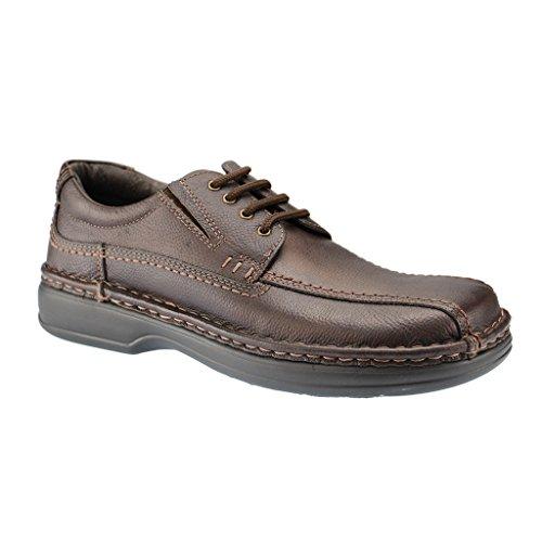 ARA 11-17108 uomo Derby laccio semi scarpe., Marrone (marrone), 45 EU
