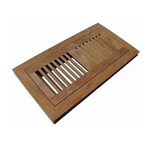 Welland 6 inch x 12 inch brazilian walnut flush mount for 6x12 wood floor register